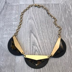 Madewell gold and Tortoise necklace